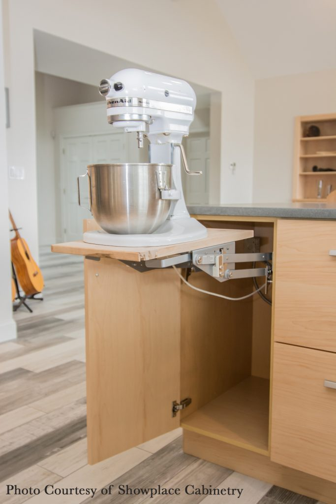 swing-out stand mixer cabinet by Showplace Cabinetry
