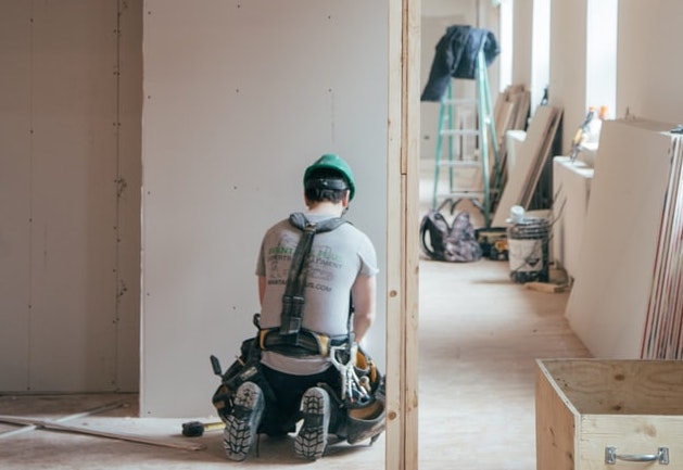 contractor working in home